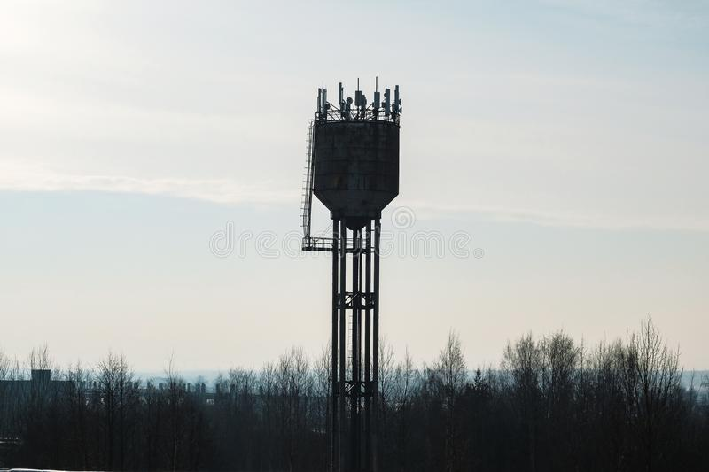 High water tower royalty free stock photography