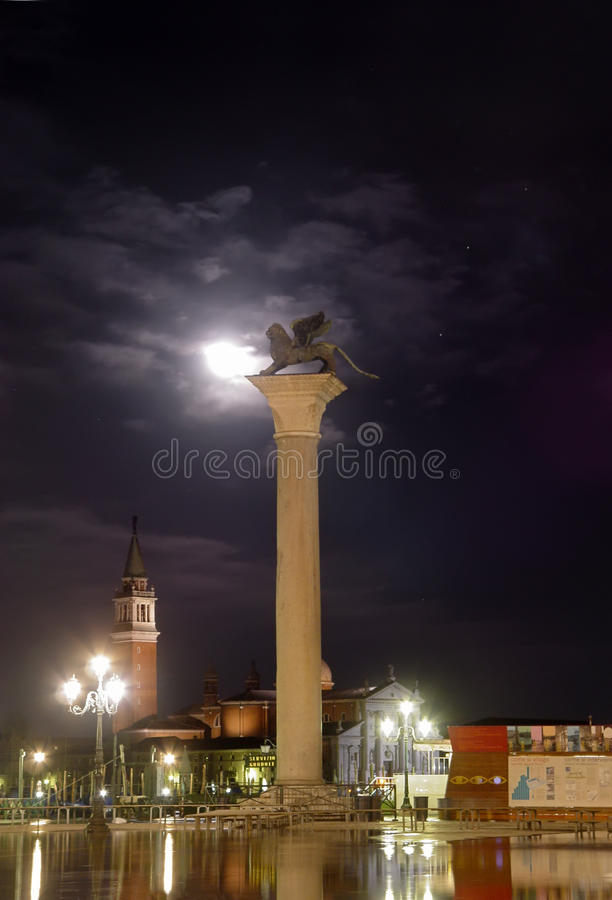 High water in Venice royalty free stock photography