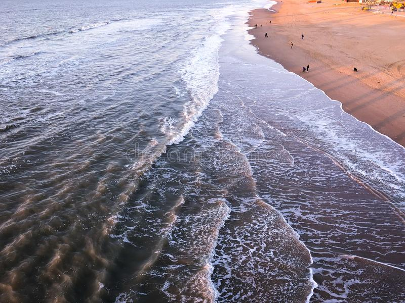 High waves on the beach. Of the Netherlands stock photos