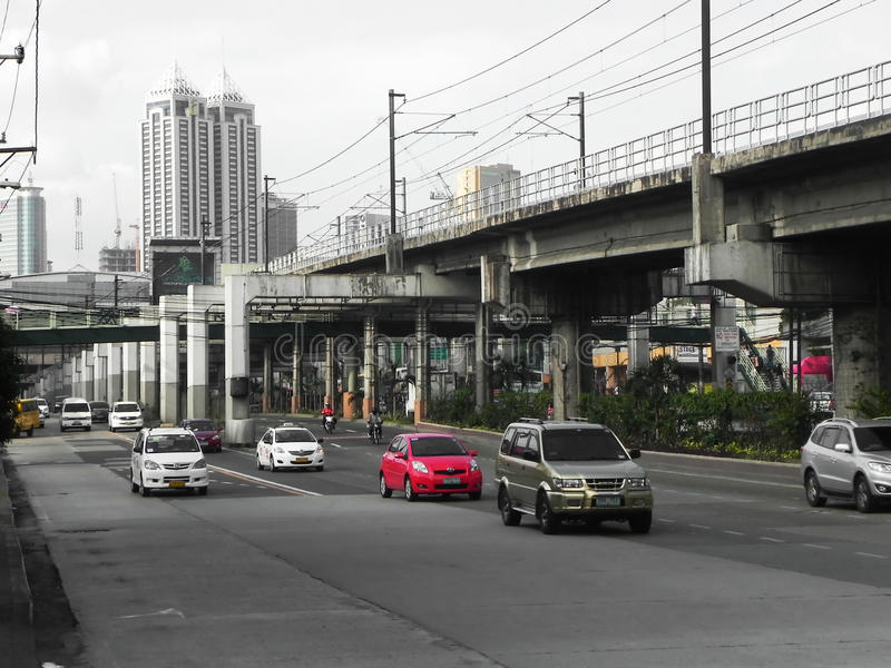 High-Way and Rail Road. Epifano Delos Santos Avenue is the most popular, most historical, and most important avenue in the Philippines. It is also the longest royalty free stock photos