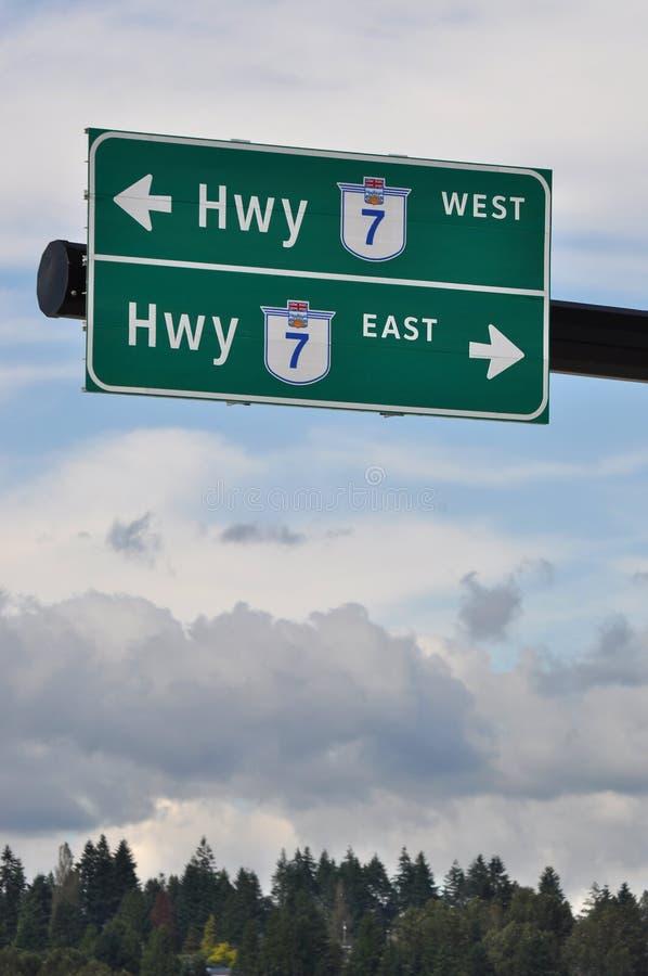 High Way Road Sign Stock Photos