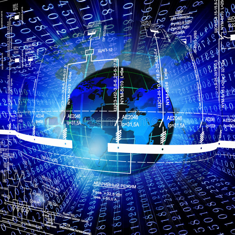 High world technologies royalty free stock photos