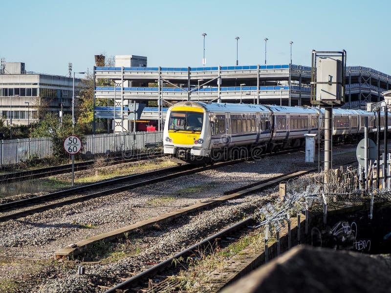 High Wycombe, het UK - 9 November, 2014: De Spoorweg Stati van High Wycombe stock foto's