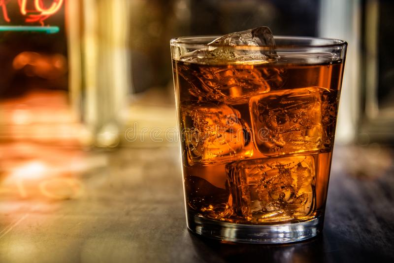 Highball on the rocks stock images