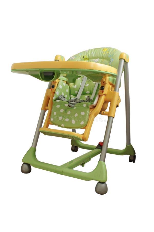 Highchair do bebê. fotografia de stock