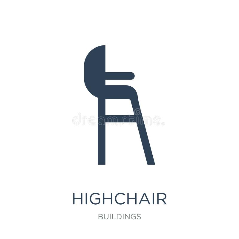 highchair icon in trendy design style. highchair icon isolated on white background. highchair vector icon simple and modern flat vector illustration
