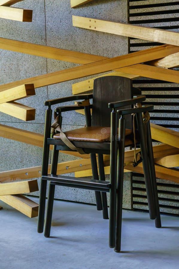 Highchair in restaurant stock fotografie