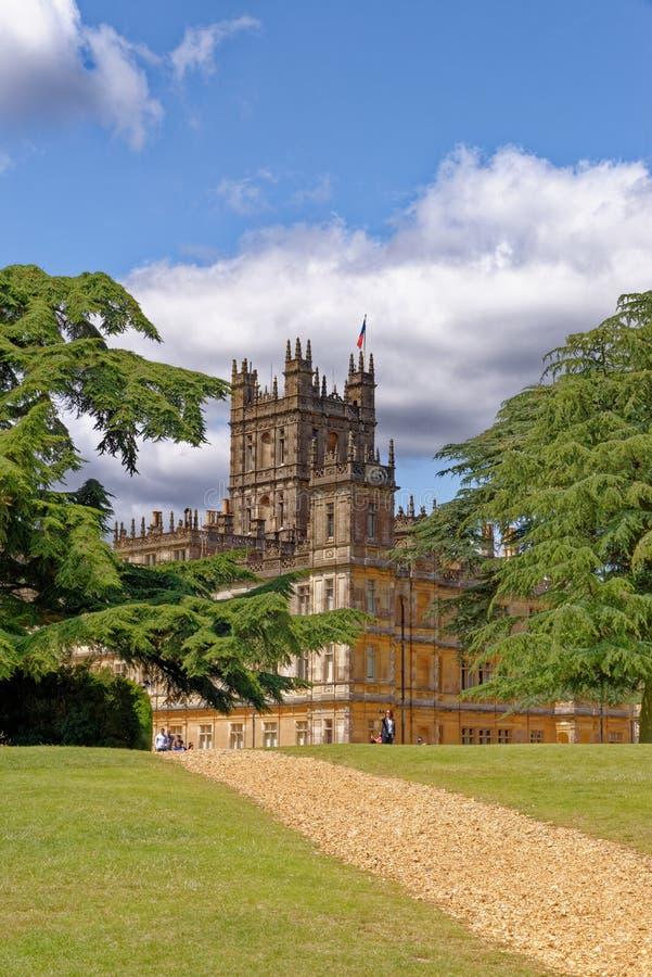 Highclere Castle - Berkshire - Zjednoczone Królestwo obraz royalty free
