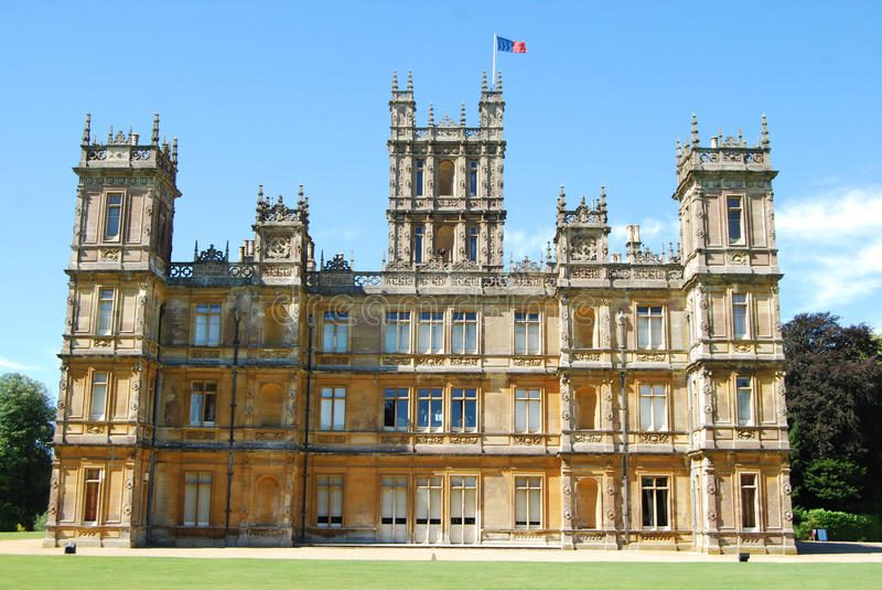 Highclere Castle, known popularly as Downton Abbey royalty free stock photo