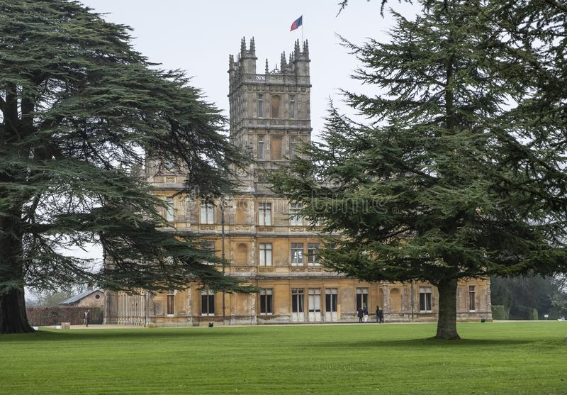Highclere Castle downton abbey hampshire royalty free stock images