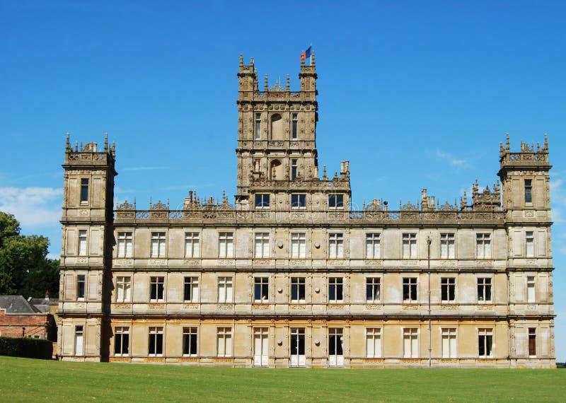 Highclere-Schloss, populär bekannt als Downton-Abtei lizenzfreies stockbild