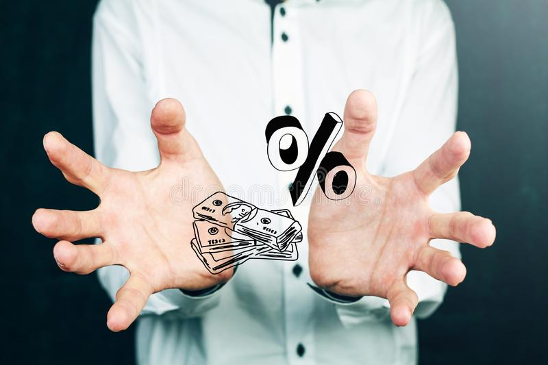 Higher Currency Rates. With pracetami royalty free stock photos