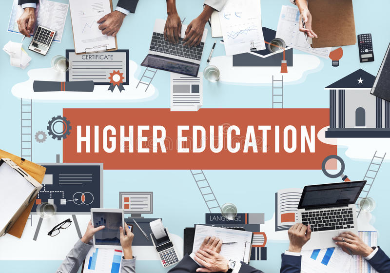 Higher Education Academic Bachelor Financial Aid Concept stock photography