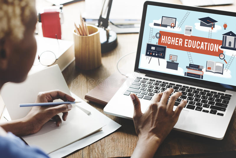 Higher Education Academic Bachelor Financial Aid Concept royalty free stock photos