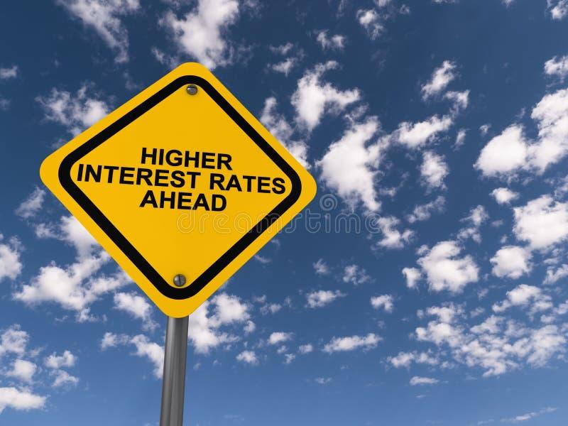 Higher interest rates ahead traffic sign vector illustration