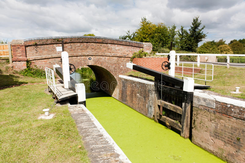Higher Maunsel Lock. On the Bridgwater and Taunton Canal Somerset England UK stock photo