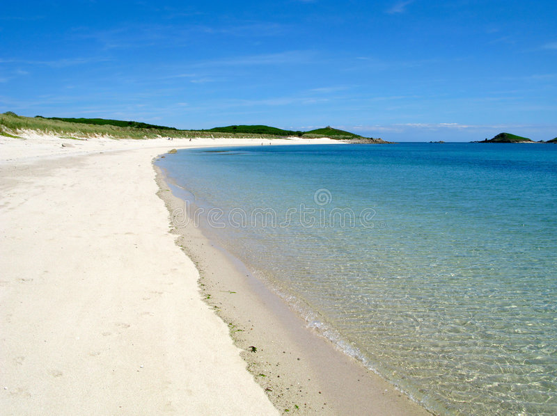 Higher Town bay beach. Higher Town bay beach, St. Martins Isles of Scilly stock images