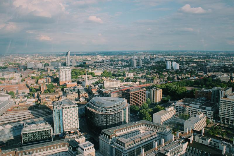 Higher up. View from the London Eye royalty free stock photos