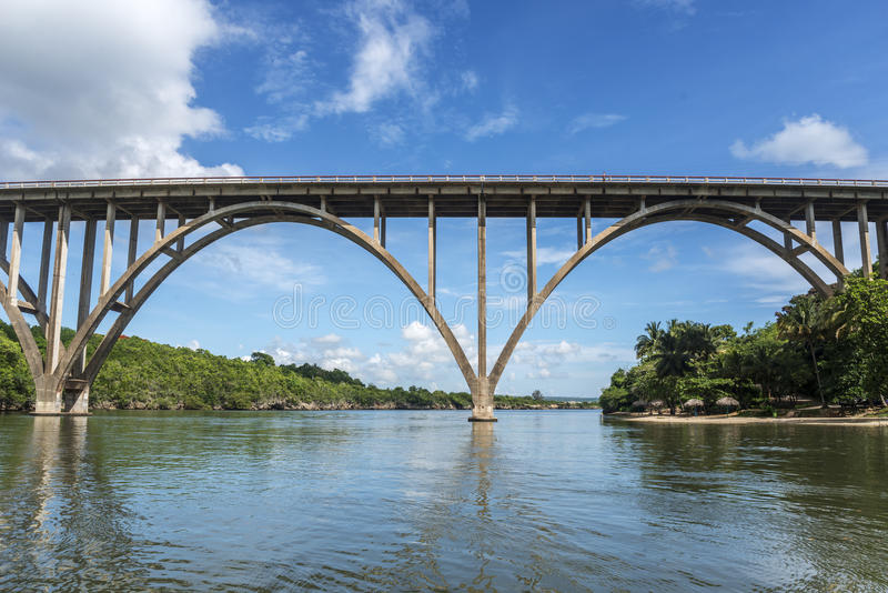 The highest bridge of Cuba royalty free stock image