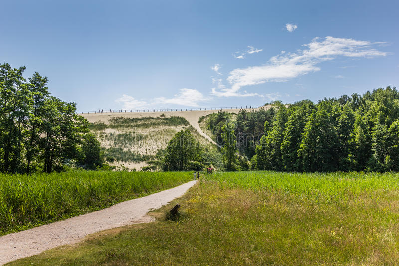 Highest dune on the curonian Spit. Lithuania stock photo