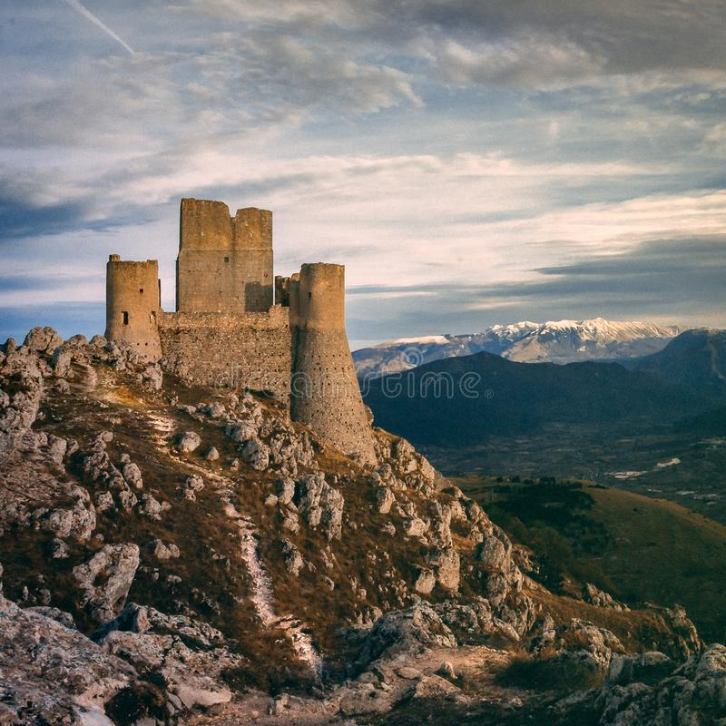 Rocca Calascio royalty free stock photography