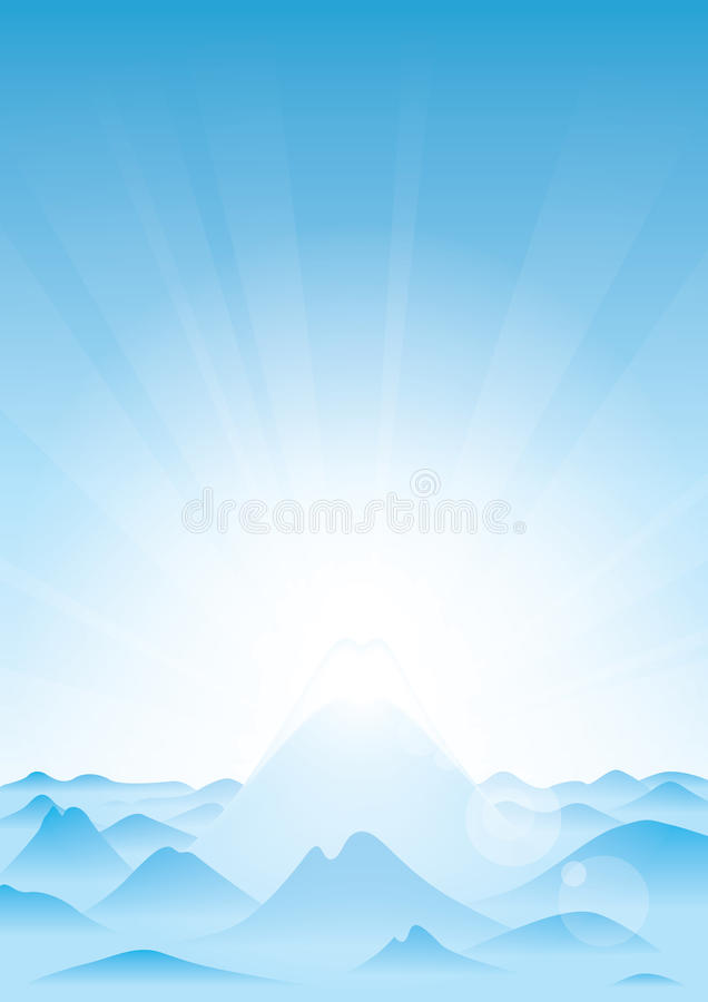 Download The Highest Mountain stock vector. Image of monotheism - 19728416