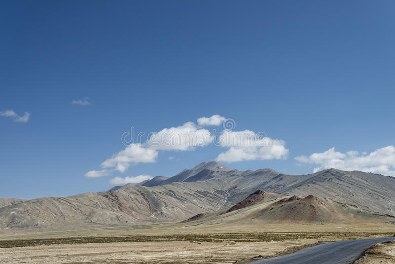 Highest mountain road ever royalty free stock images