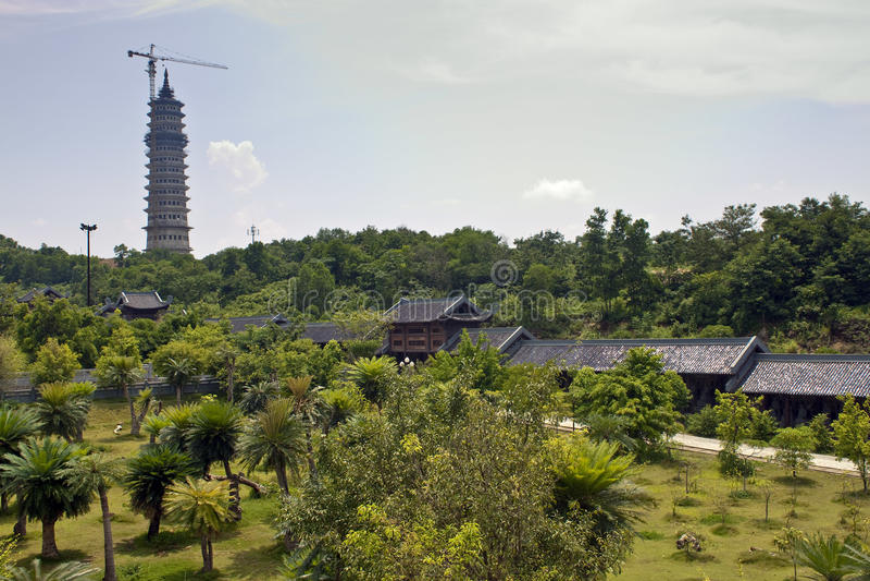 Highest pagoda in Vietnam royalty free stock image