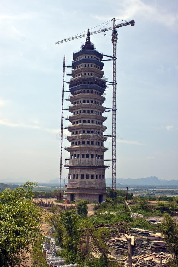 Highest pagoda in Vietnam stock photo