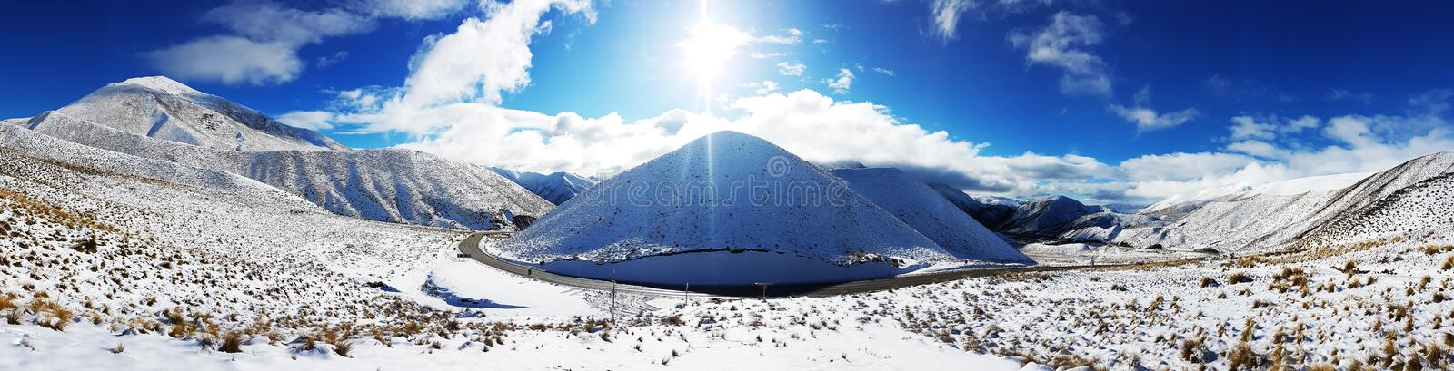 Highest Point on Lindis Pass stock image