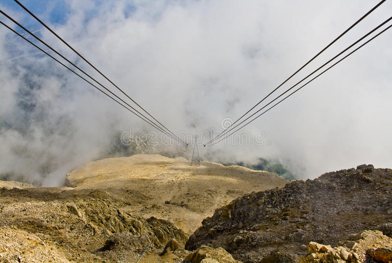 The highest point of Olympos Teleferik royalty free stock images