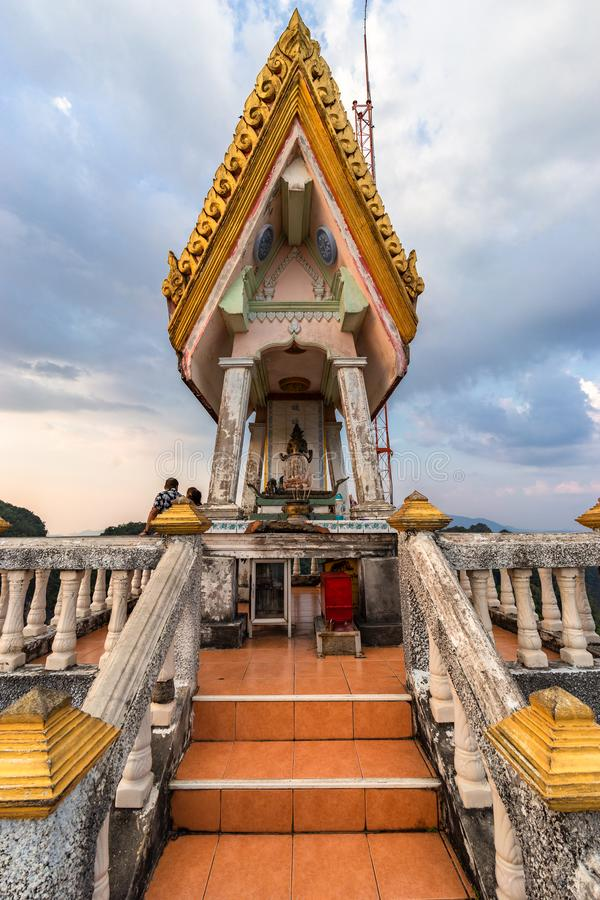 Highest point and territory of Wat Tham Seua Tiger Cave Temple. Krabi Province, Thailand - January 16, 2019: Highest point and territory of Wat Tham Seua Tiger royalty free stock images