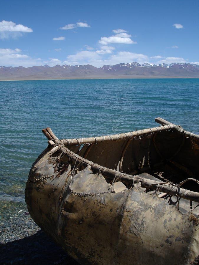Highest salt water lake - Namtso Lake stock photography