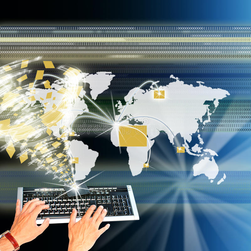 Download The Highest The Technology Internet Stock Image - Image of glowing, internet: 17299667
