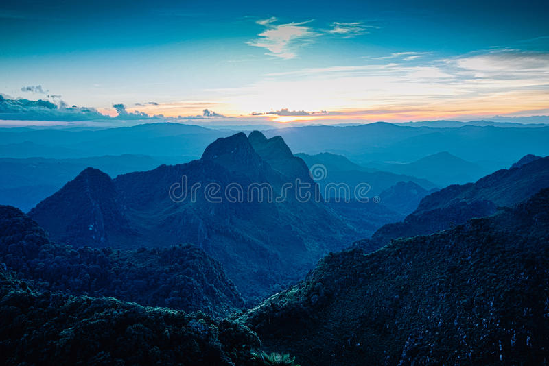 Highest view in chiangmai royalty free stock photography