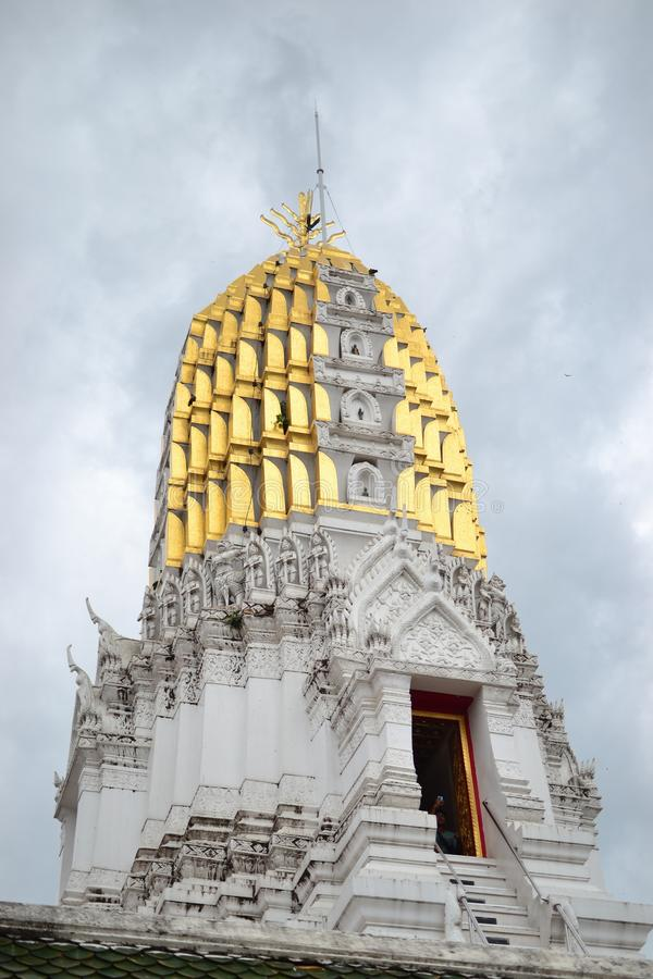 The highest of Wat Yai at Phitsanulok in Thailand stock photos