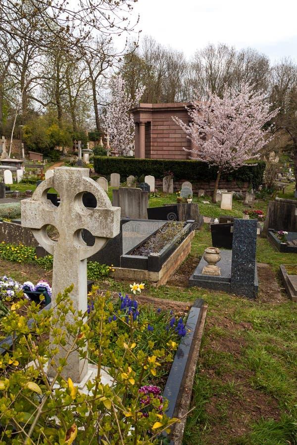 Highgate公墓,伦敦 库存照片