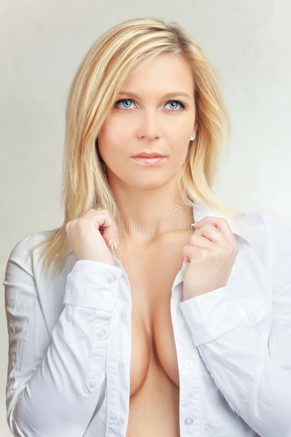 Highkey beautiful blond girl stock photo