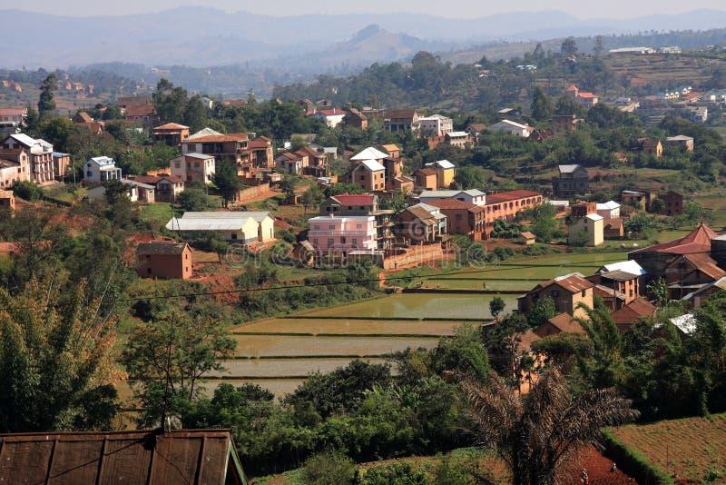 highland mieszkaniowy typowe Madagaskaru zdjęcia royalty free
