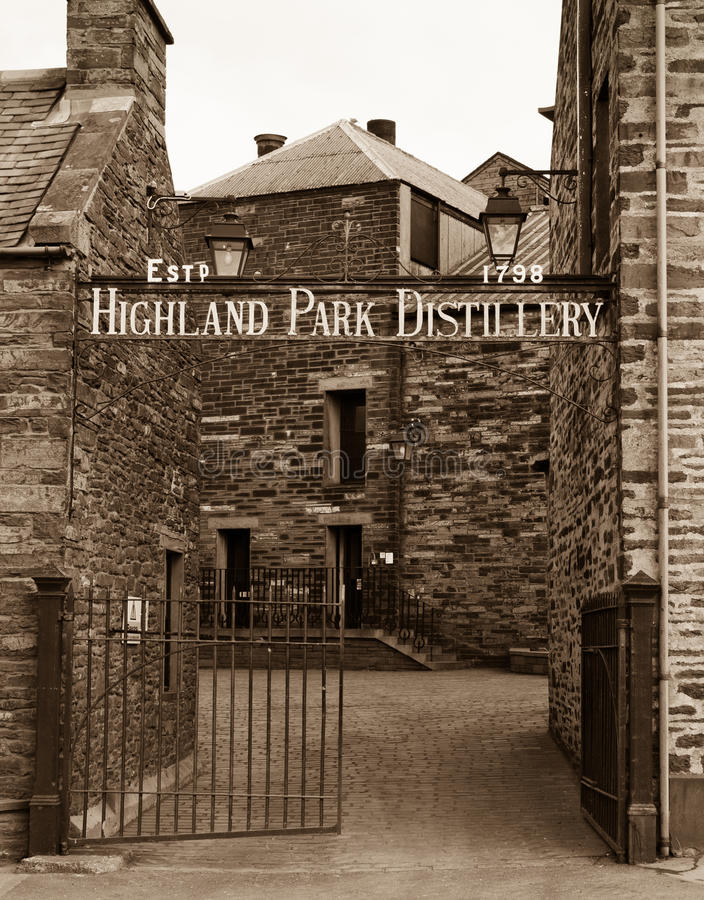 Highland Park Distillery, Orkney royalty free stock photo