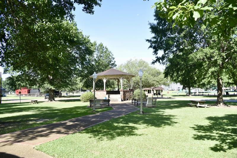 Highland Park, meridiano, Mississippi foto de archivo