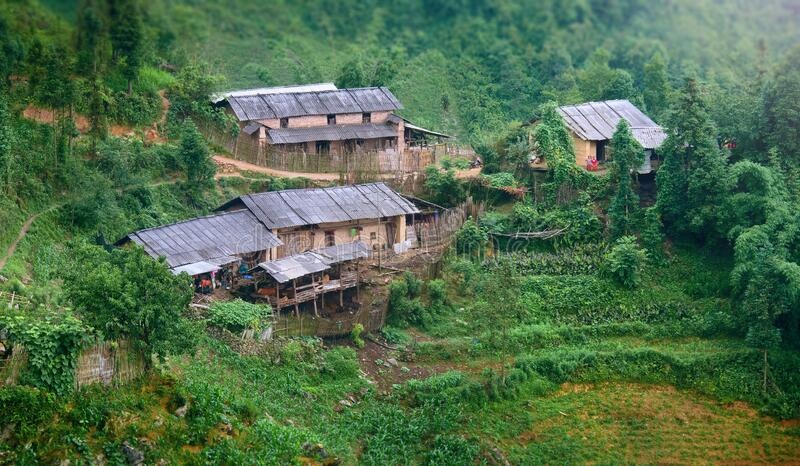 Highland Village in difficult to access areas of North Vietnam on the border with China. royalty free stock photos