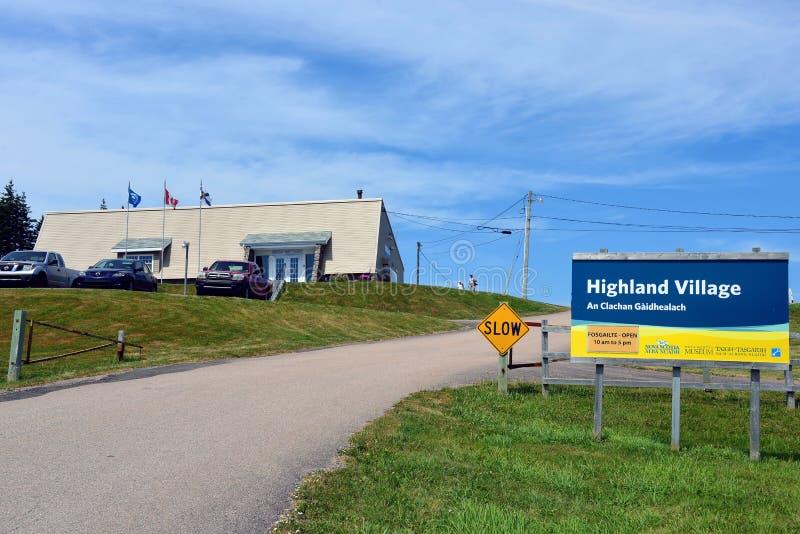 Highland Village en bretón Canadá del cabo foto de archivo