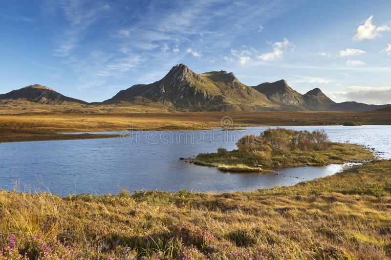 Highlands with Ben Loyal in northern Scotland stock photos