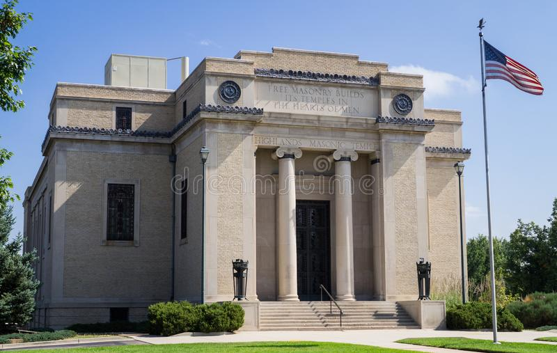 Highlands Masonic Temple and Event Center in Denver royalty free stock image