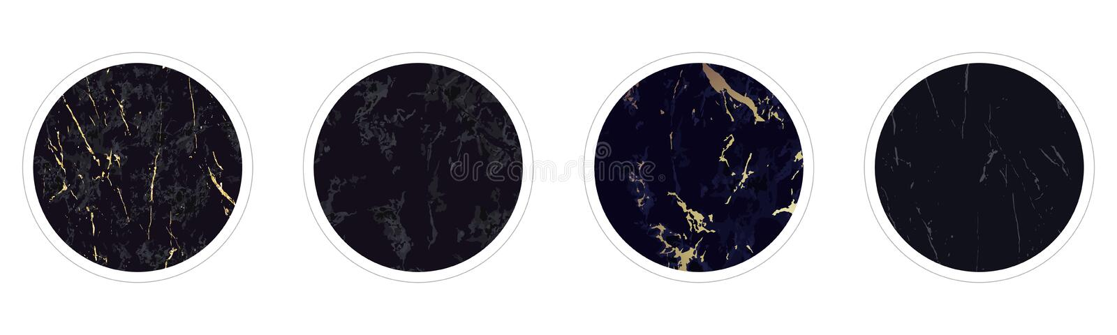 Highlight covers backgrounds. Set of marble design royalty free illustration
