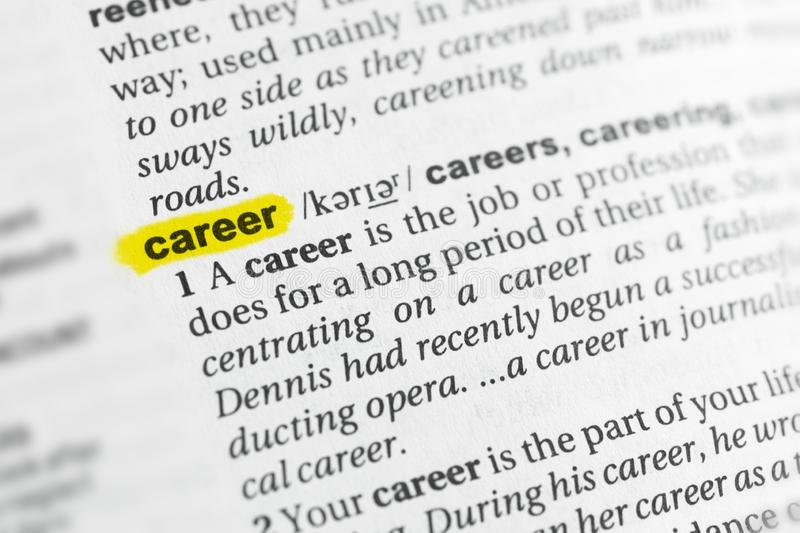 career definition stock image  image of define  path