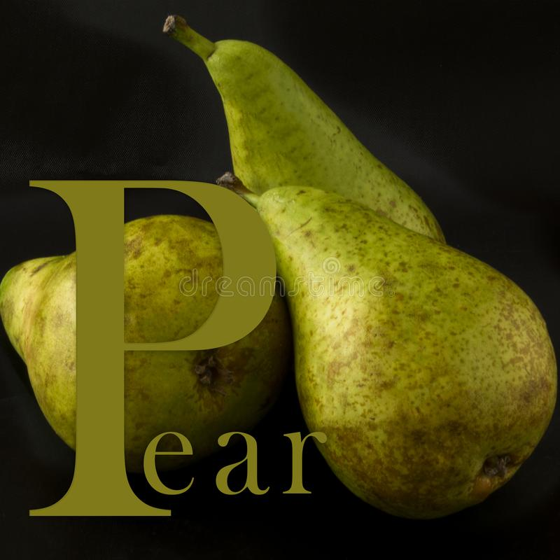 Beginning of the word pear. royalty free stock photo
