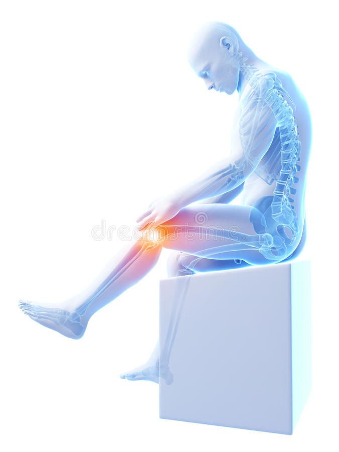 Download Highlighted Knee Joint Royalty Free Stock Image - Image: 30727486