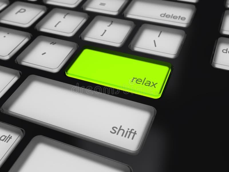 Highlighted relaxa o botão fotos de stock royalty free